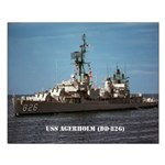 USS AGERHOLM Small Poster