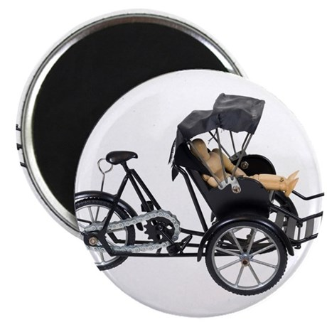"Energy efficient rickshaw 2.25"" Magnet (10 pack)"