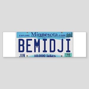 Bemidji License Plate Bumper Sticker