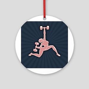 Gym Goddess Ornament (Round)