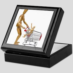Family out shopping Keepsake Box