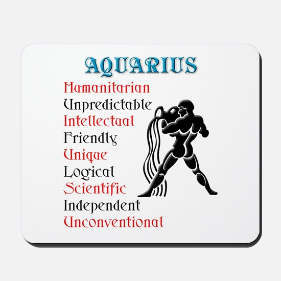 Aquarius Horoscope Mousepad