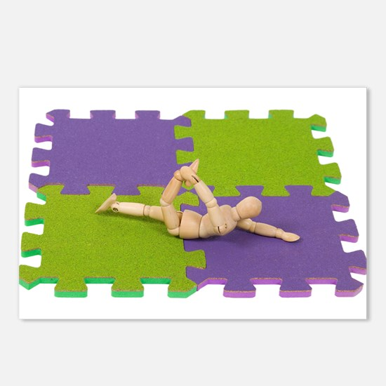 Gymnastics stretching Postcards (Package of 8)