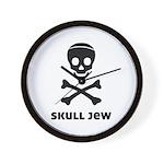 Skull Jew Wall Clock