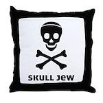 Skull Jew Throw Pillow