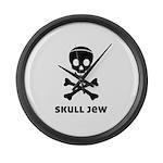 Skull Jew Large Wall Clock