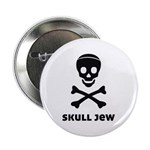 """Skull Jew 2.25"""" Button"""
