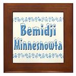 Bemidji Minnesnowta Framed Tile