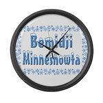 Bemidji Minnesnowta Large Wall Clock