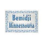 Bemidji Minnesnowta Rectangle Magnet