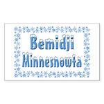 Bemidji Minnesnowta Rectangle Sticker 50 pk)