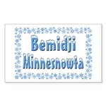 Bemidji Minnesnowta Rectangle Sticker