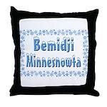 Bemidji Minnesnowta Throw Pillow