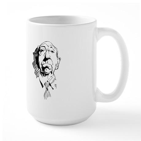 Hitchcock Caricature Large Mug