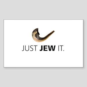 Just Jew It Rectangle Sticker