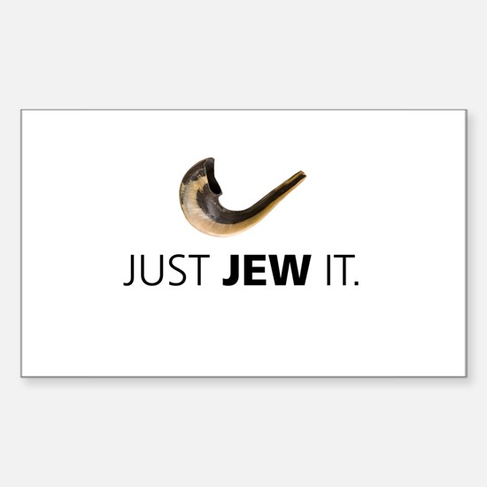 Just Jew It Rectangle Decal