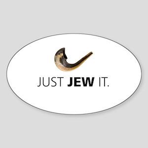 Just Jew It Oval Sticker