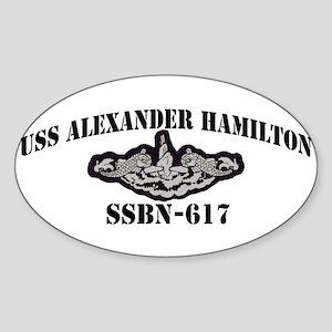 USS ALEXANDER HAMILTON Sticker (Oval)