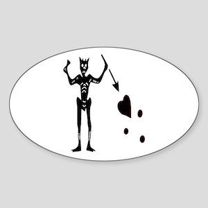 BLACKBEARD-EDWARD TEACH Oval Sticker