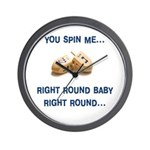 Spin me right round Wall Clock