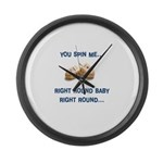 Spin me right round Large Wall Clock