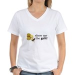 Show me the money..Gelt! Women's V-Neck T-Shirt