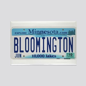 Bloomington License Plate Rectangle Magnet
