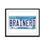 Brainerd License Plate Framed Panel Print