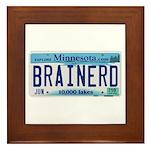 Brainerd License Plate Framed Tile