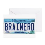 Brainerd License Plate Greeting Cards (Pk of 10)