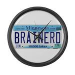 Brainerd License Plate Large Wall Clock