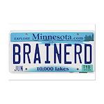 Brainerd License Plate Mini Poster Print