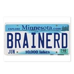 Brainerd License Plate Postcards (Package of 8)