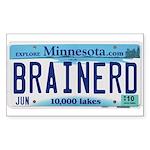 Brainerd License Plate Rectangle Sticker