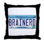 Brainerd License Plate Throw Pillow