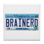 Brainerd License Plate Tile Coaster