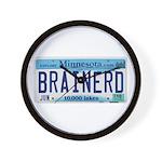 Brainerd License Plate Wall Clock
