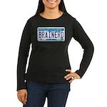 Brainerd License Plate Women's Long Sleeve Dark T-