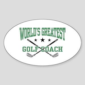 World's Greatest Golf Coach Oval Sticker