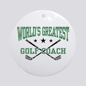 World's Greatest Golf Coach Ornament (Round)