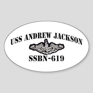 USS ANDREW JACKSON Oval Sticker