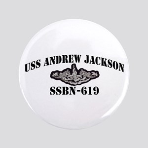 "USS ANDREW JACKSON 3.5"" Button"