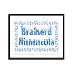 Brainerd Minnesnowta Framed Panel Print