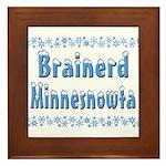 Brainerd Minnesnowta Framed Tile