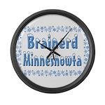 Brainerd Minnesnowta Large Wall Clock