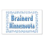 Brainerd Minnesnowta Rectangle Sticker 10 pk)