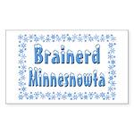 Brainerd Minnesnowta Rectangle Sticker 50 pk)