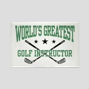 World's Greatest Golf Instructor Rectangle Magnet