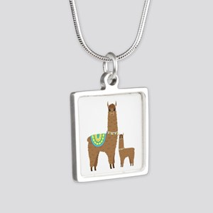 Brown Mama Llama and Baby Necklaces
