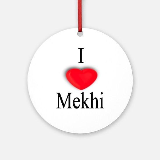 Mekhi Ornament (Round)